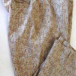 Chico's tam cotton satine capris 2 cropped pants